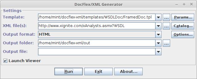 FlexDoc/XML - WSDLDoc (WSDL Documentation Generator)