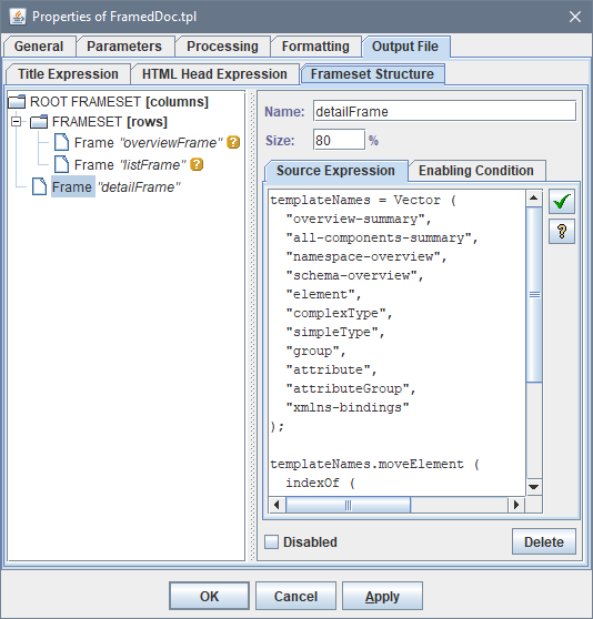 FlexDoc/XML - XSDDoc - Templates